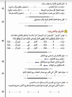 """3 - تمارين ملخصة لأهم قواعد اللغة العربية ."""".استعدادا لمناظرة السيزيام"""""""