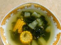 Sayur Bening Daun Kelor+Jagung+Labu Putih Dari Titis Prasetyo