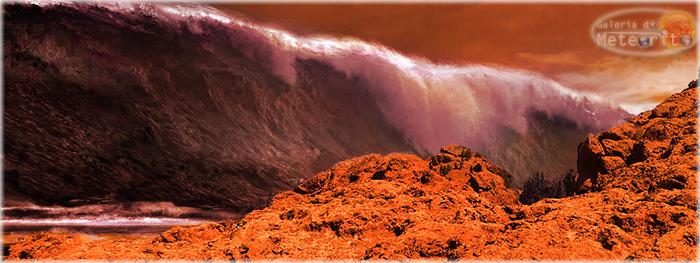 mega tsunamis em Marte