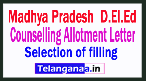 MP D.El.Ed Counselling Allotment Letter