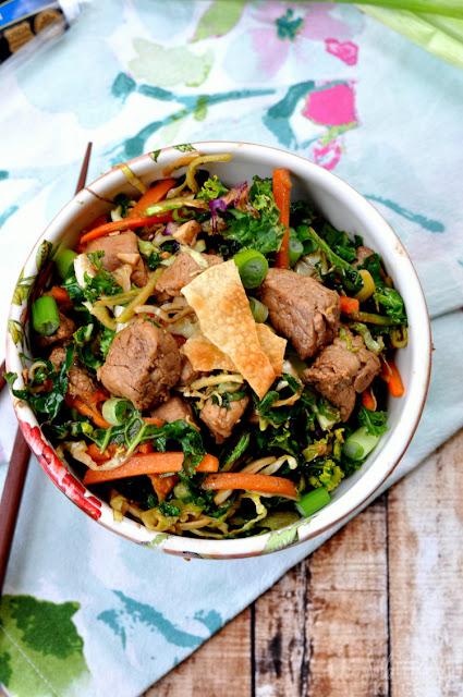 chinese pork egg roll bowl recipe