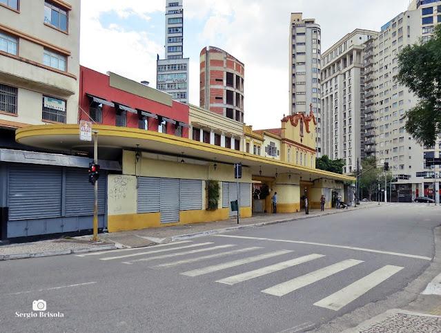 Vista ampla da antiga Parada de bondes Praça Dr. João Mendes - Sé - São Paulo