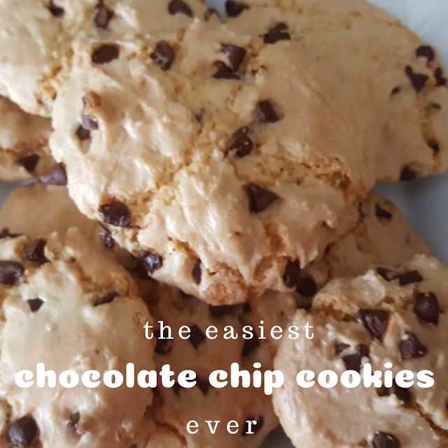 The easiest chocolate chip cookies ever, chocolate chip cookies recipe
