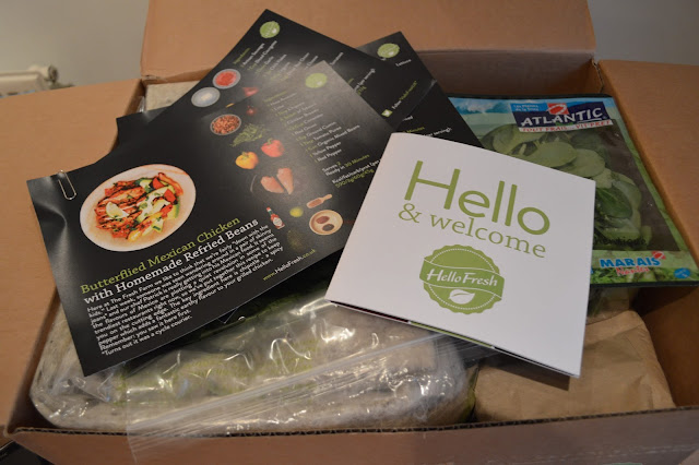 Opening the Hello Fresh box