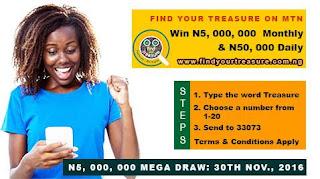 MTN Your Treasure Promo Win 50,000 Daily