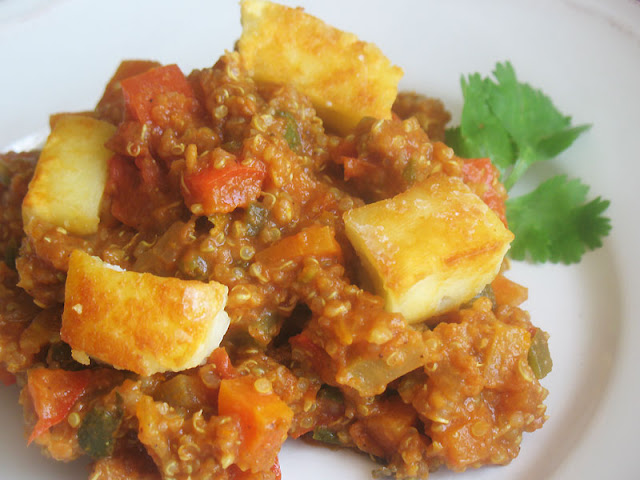 Spicy Quinoa with Mixed Vegetables and Paneer
