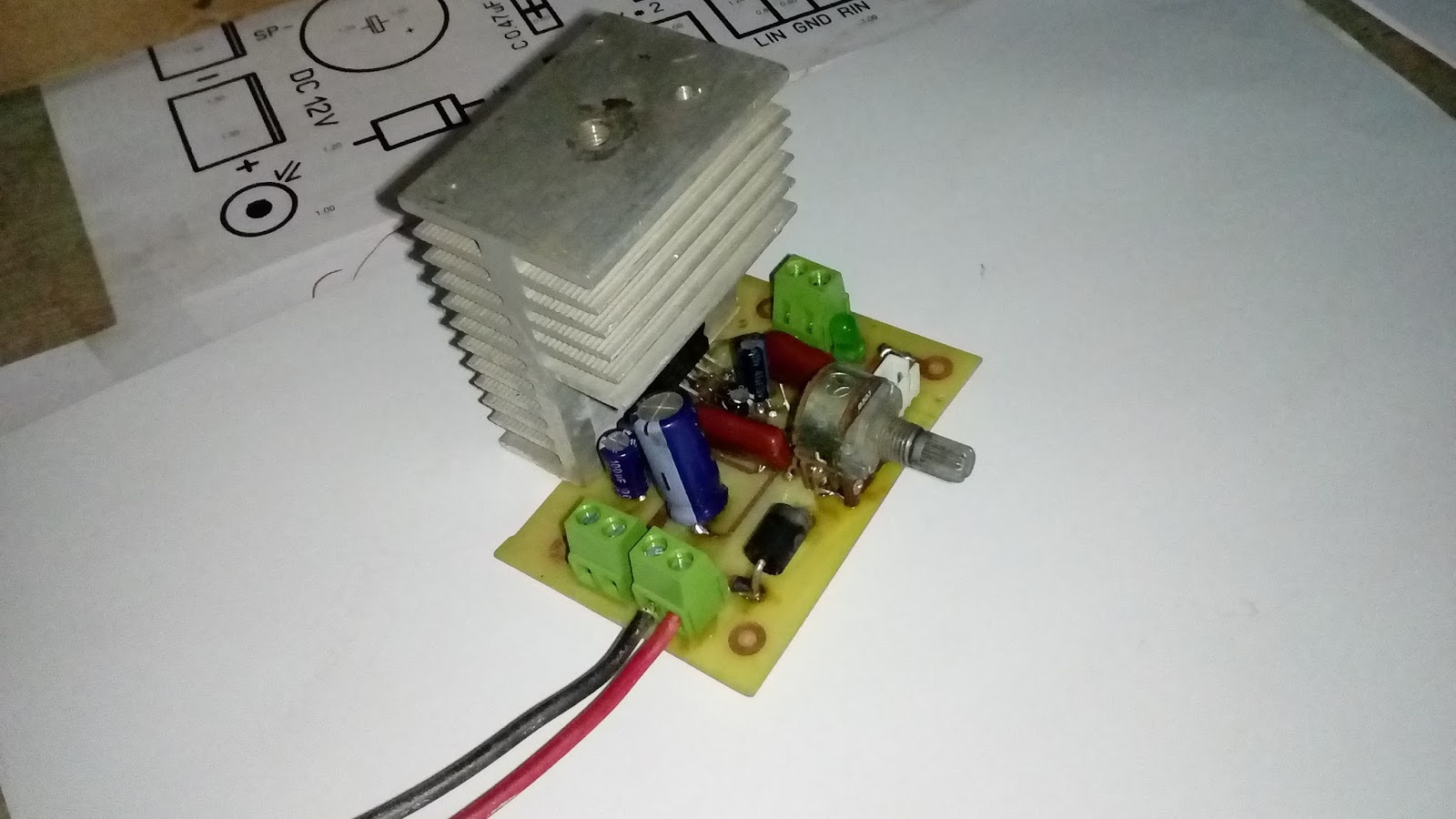 TDA7377 Amplifier Circuit (12V Stereo 30W + 30W)