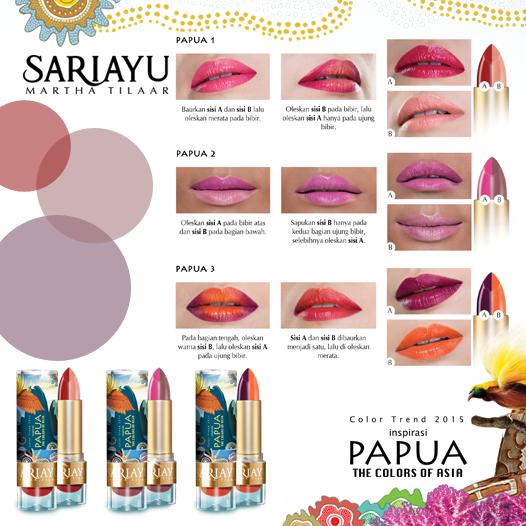 Review Sariayu Lipstick Papua Series P-03 - My-Makeupdiary