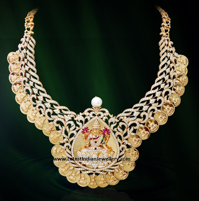 Diamond Laxmi Kasu Necklace