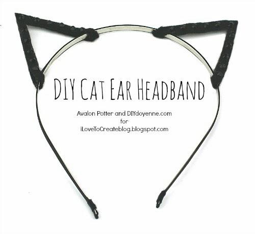 iLoveToCreate Blog: DIY Cat Ear Headband