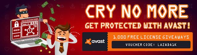 Lazada Malaysia Free Avast Pro License Key Giveaway