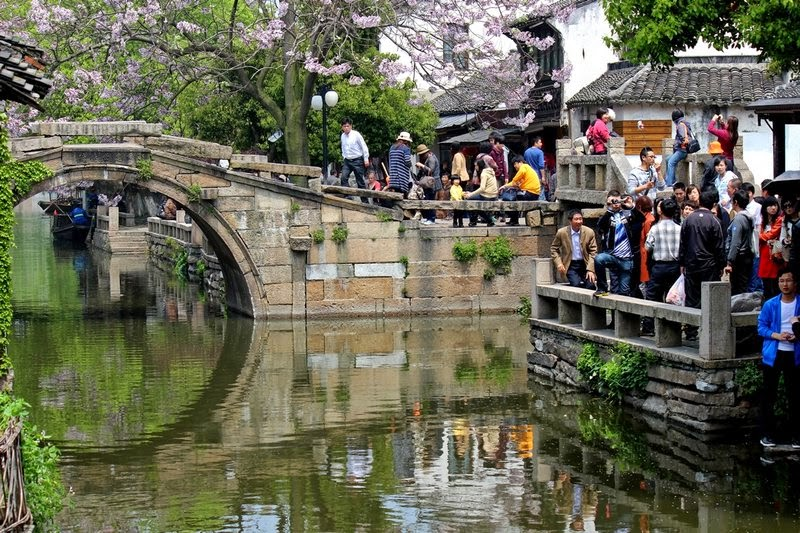 China Zhouzhuang The Water Town Twin Bridges (Shuangqiao)