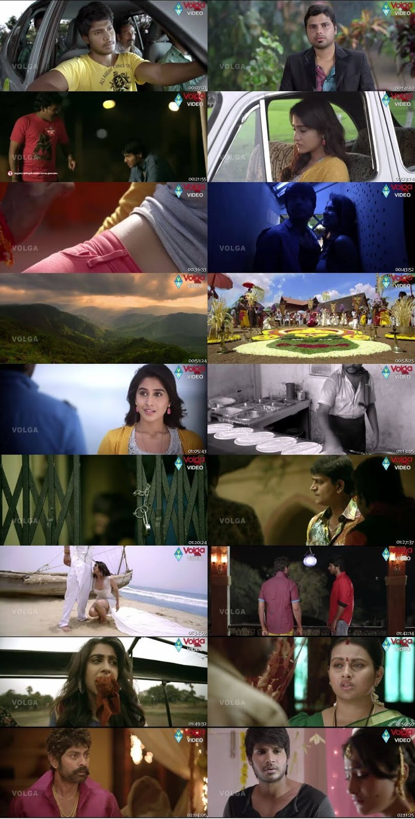 Screen Shot Of Ra Ra Krishnayya 2014 300MB Full Movie Hindi Dubbed Free Download 720P HDRip HEVC