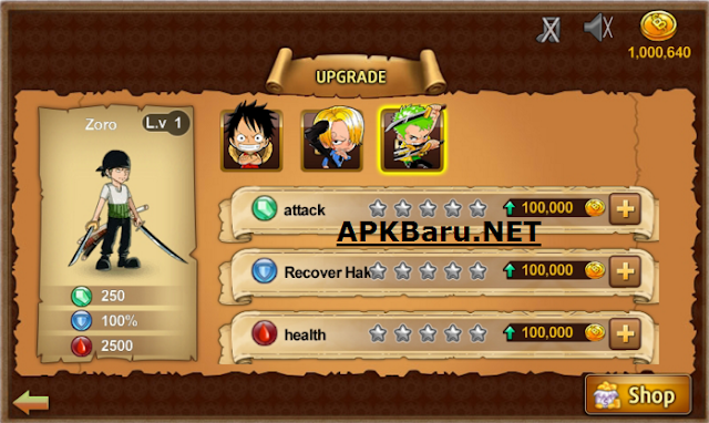 One Piece: Treasure Cruise Apk Mod v5.2.0 Terbaru