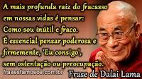 Frase do Dalai Lama: Sucesso e Fracasso