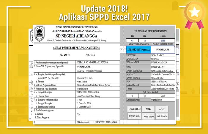Aplikasi SPPD Excel 2017