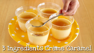 3 Ingredients Crème Caramel