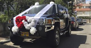 קישוט רכב מיוחד לחתונה