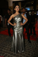 Rakul Preet Singh in Shining Glittering Golden Half Shoulder Gown at 64th Jio Filmfare Awards South ~  Exclusive 037.JPG