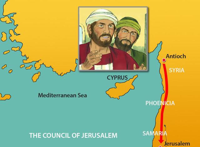 les voyages de Saint Paul et Silas