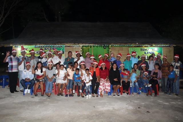 Kebersamaan Saat Natal Keluarga Besar Angkatan XXVI ZLSSTS Polres MTB
