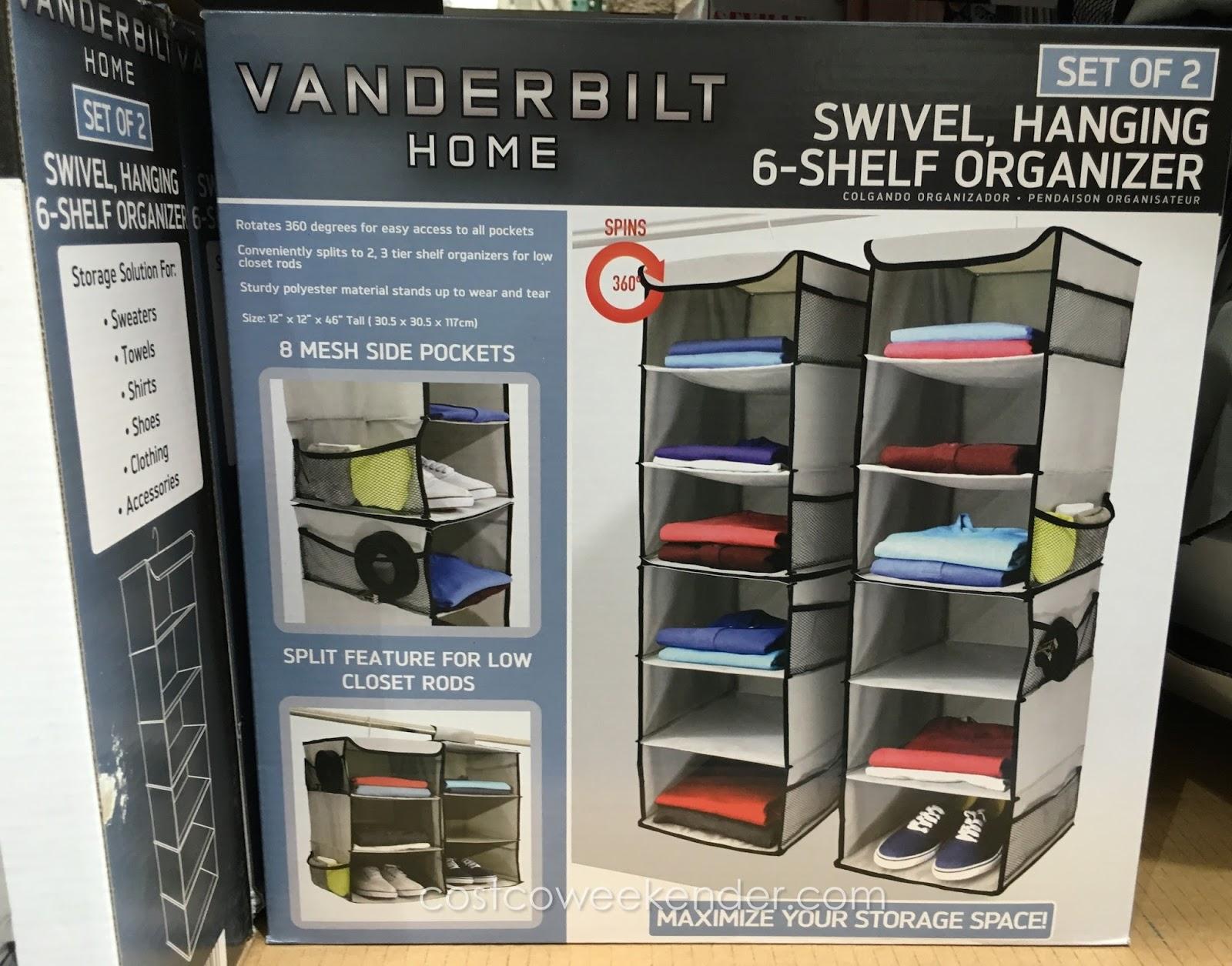 Beau Create More Space With The Vanderbilt Home Swivel, Hanging 6 Shelf Closet  Organizer