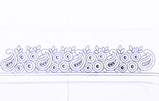 Top 5 saree border design drawing for hand emroidery and machine embroidery design.pencil sketch for hand emroidery design on paper.