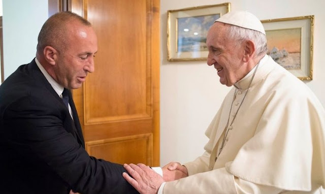 Ramush Haradinaj visits Vatican city asking to Pope the recognition of Kosovo