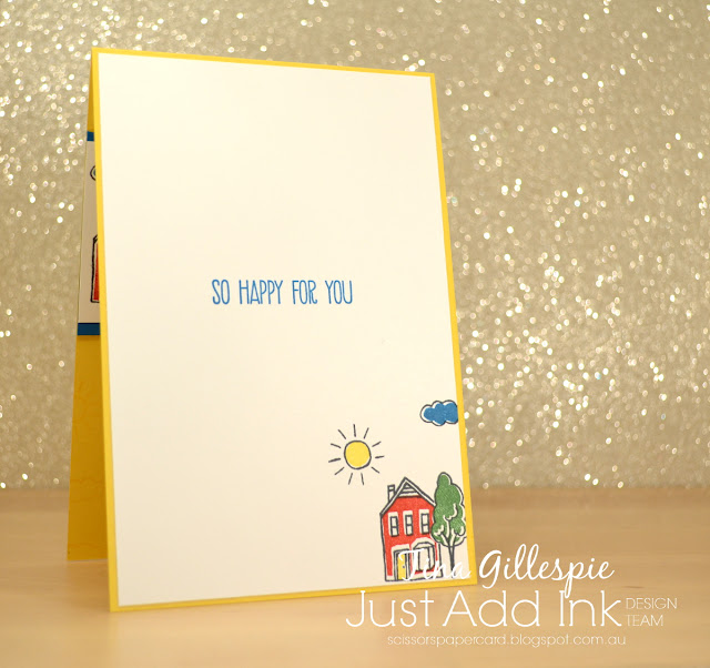 scissorspapercard, Stampin' Up!, Just Add Ink, In The City, Sunshine Sayings