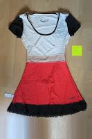 innen: Desigual Damen A-Linie Kleid, VEST_ALTAÍR Knielang mit Print
