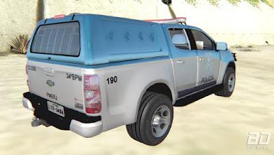 Download mod carro pickup viatura  da policia Chevrolet S10 PMERJ para o jogo GTA San Andreas