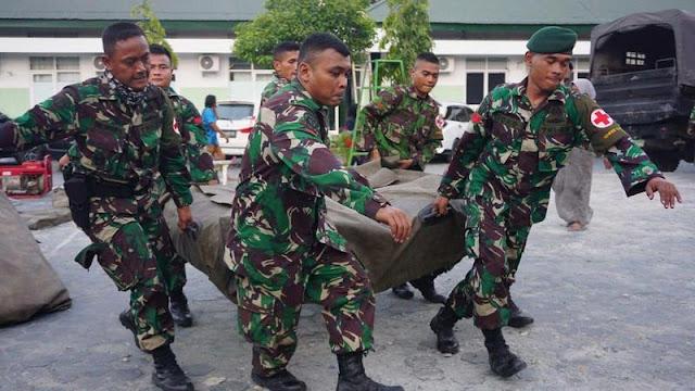 Satgas Bankes TNI Dirikan Rumah Sakit Lapangan di Lokasi Gempa Palu
