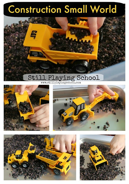 I would have never thought to use this for construction vehicle play but it's taste safe and easy to make for kids!