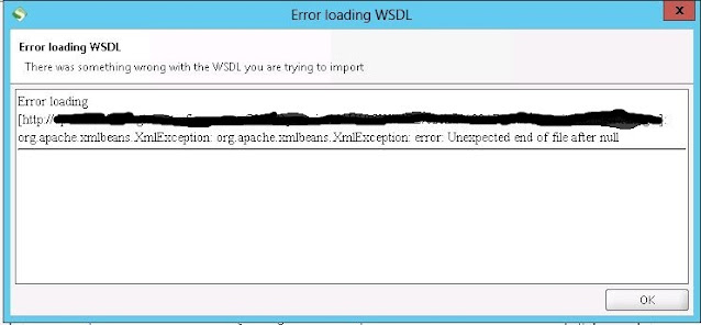 Error loading wsdl