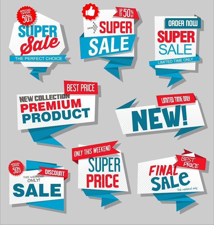 Label price badge free vector