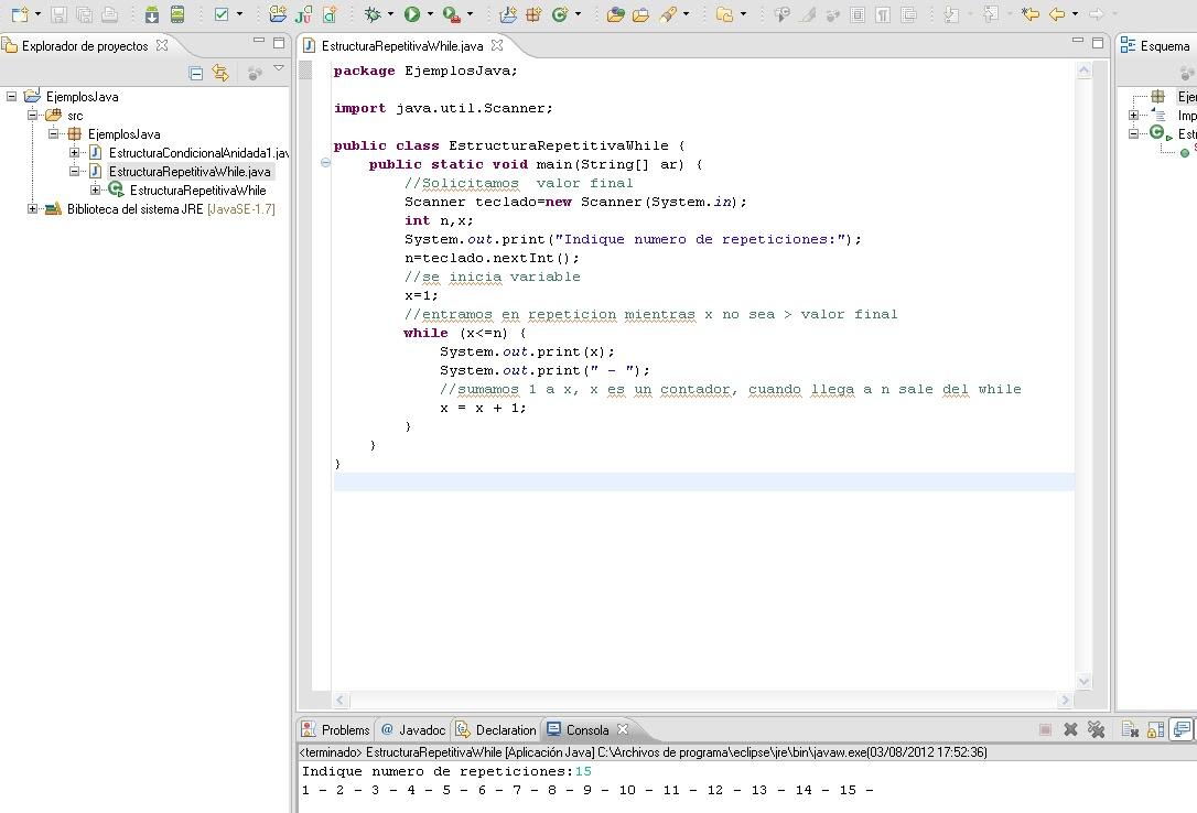 Programacion Capitulo 2 Java Estructura Repeticion While