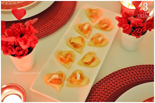 aperitivos para noite romântica