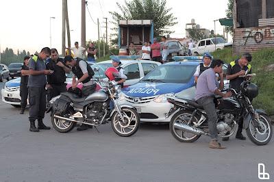 Controles vehiculares a motocicletas. Secretario de Seguridad Diego Kravetz