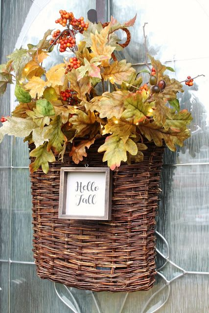 Fall basket wreath