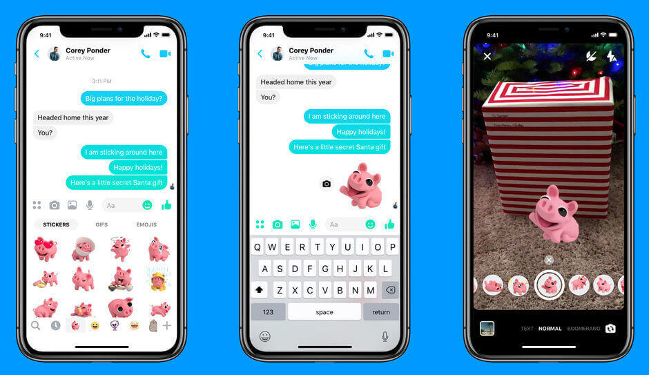Facebook New Update Introduces Boomerang Support And Selfie Mode For Messenger