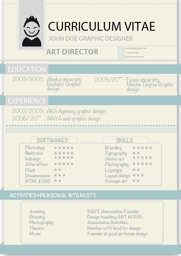 Graphic designer CV templates ~ graphic design career - graphic design student resume