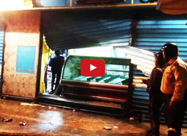 Así quedó la panadería saqueada en Los Teques por los colectivos chavistas