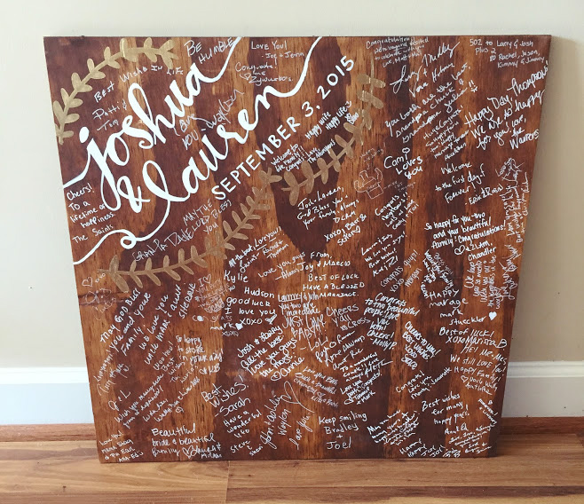 """Wedding Guest Signing Ideas: Forever Fireflying: Wedding: DIY Wood """"guestbook"""""""