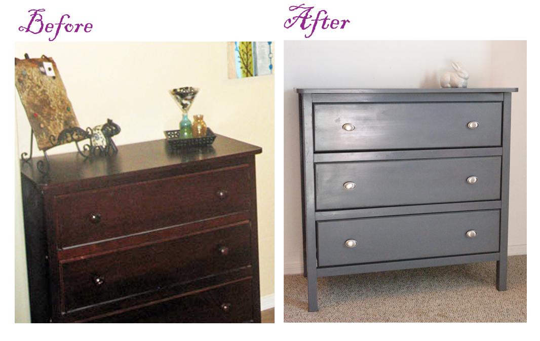 sew over it pretty in grey dresser makeovers. Black Bedroom Furniture Sets. Home Design Ideas
