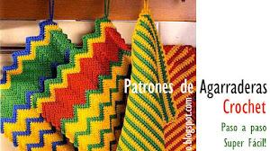 Agarraderas super fáciles para tejer al crochet