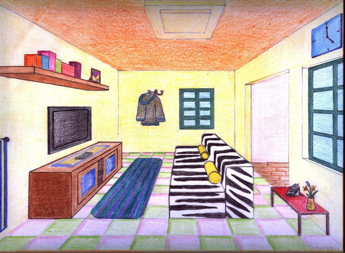 Piccole variazioni sul tema della prospettiva centrale for Disegnare una stanza in 3d