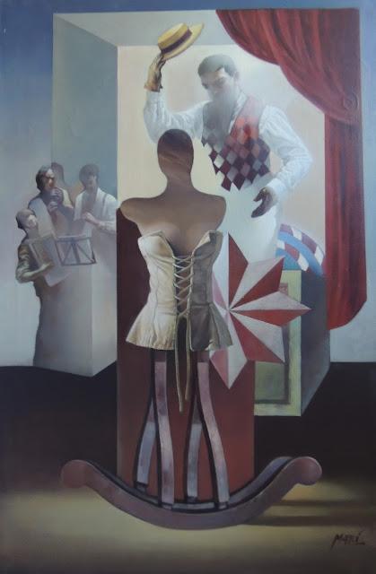 José Marí pintura surrealista arte feria fiesta españa