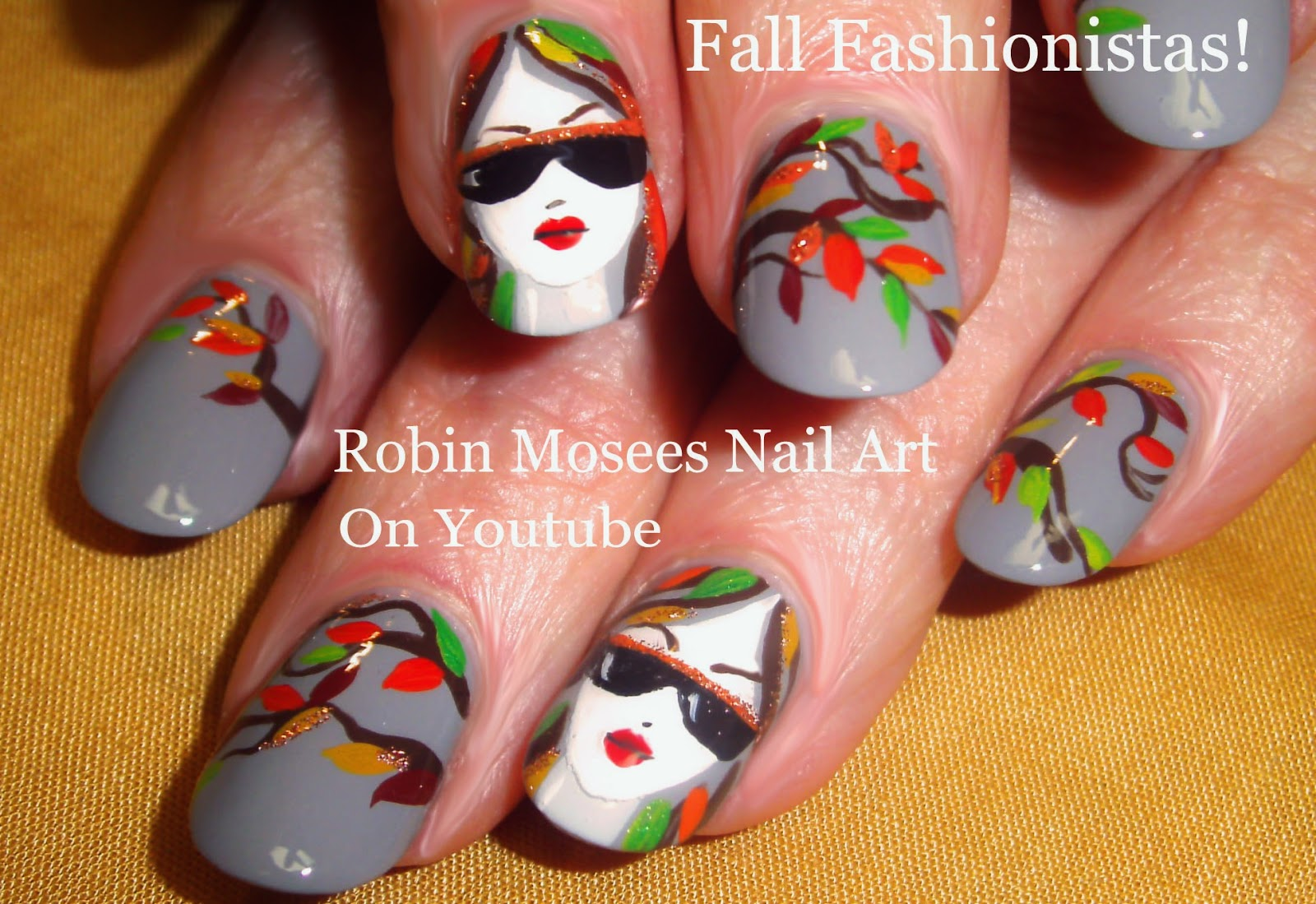Nail Art by Robin Moses: Fall Fashionistas! Fall nail design ...
