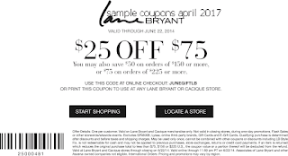 Lane Bryant coupons april 2017