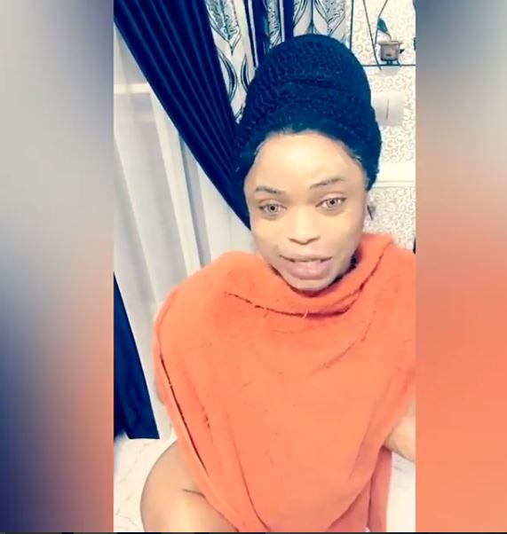 Bobrisky poses with no pants to deny claims his hips and butt are fake
